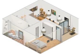 Render modello 3d_archi studio lorè
