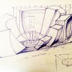 Schizzi di progetto_auditorium_archistudio lorè